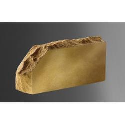 (Желтый) Облицовочный кирпич Лендбрик «Скала» угловой