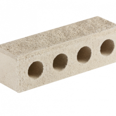 (Белый) Облицовочный кирпич «Литос» Узкий колотый с фаской