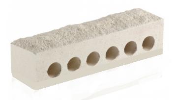 (Белый) Облицовочный кирпич «Литос» Узкий скала евро