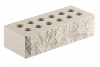(Белый) Облицовочный кирпич «Литос» тычковой