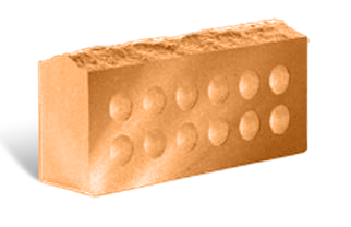 (Персик) Облицовочный кирпич «Литос» скала