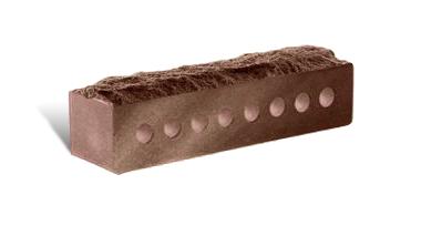 (Шоколад) Облицовочный кирпич «Landbrick» Узкий скала евро