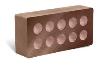 (Шоколад) Облицовочный кирпич «Литос» гладкий