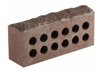 (Шоколад) Облицовочный кирпич «Литос» скала