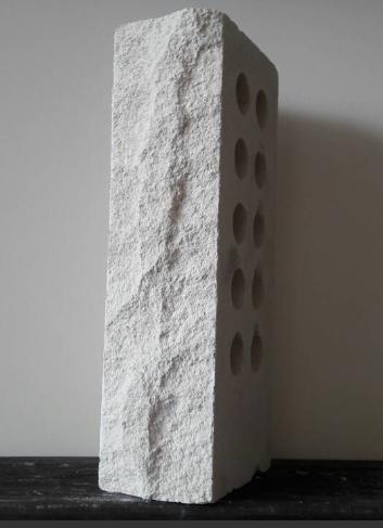 (Белый) Облицовочный кирпич Лендбрик скала