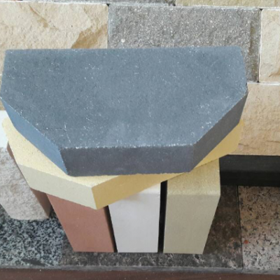 (Серый) Облицовочный кирпич Лендбрик 2-х Угловой полнотелый