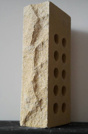 (Слоновая кость) Облицовочный кирпич «Лендбрик» скала пустотелый